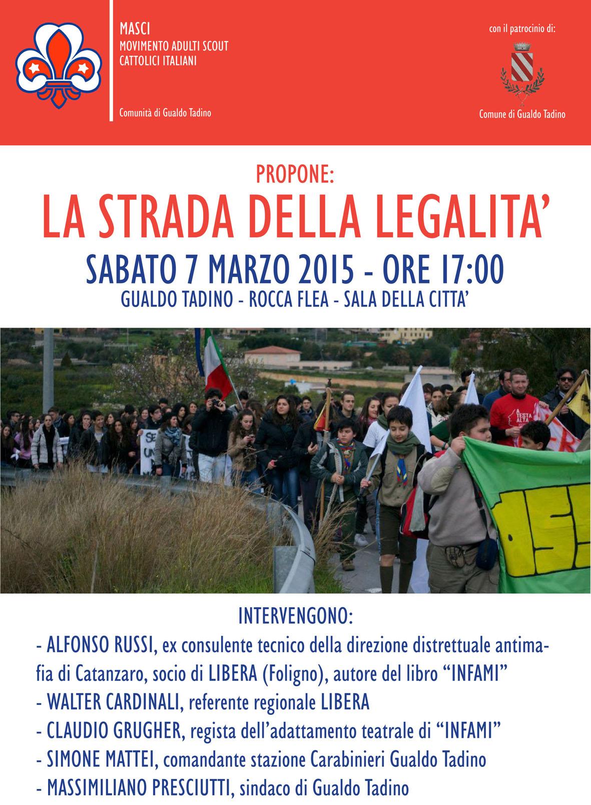 Incontro su legalità a Gualdo Tadino